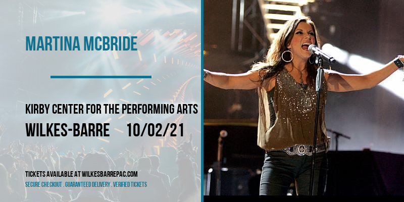 Martina McBride at Kirby Center for the Performing Arts