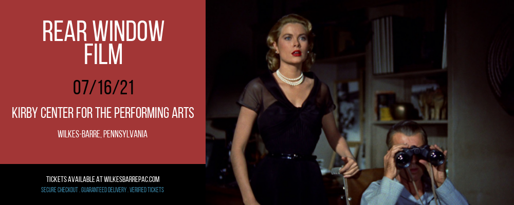 Rear Window - Film at Kirby Center for the Performing Arts